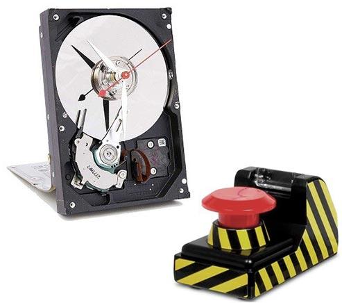 Hard disk kao časovnik i dugme za alarm